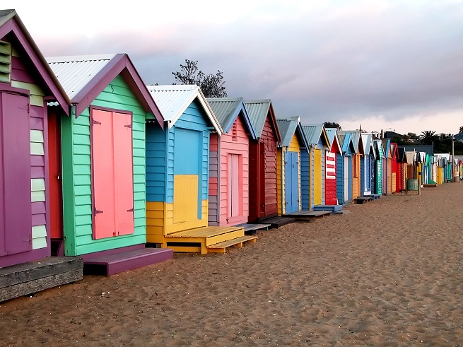 Brighton la playa de las casitas multicolor en australia - Casitas de playa ...
