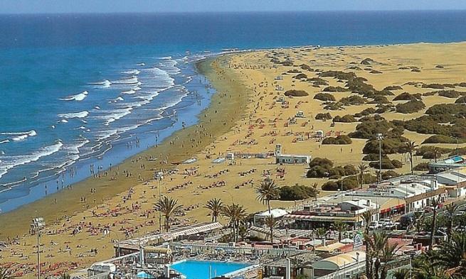 playa de maspalomas longitud