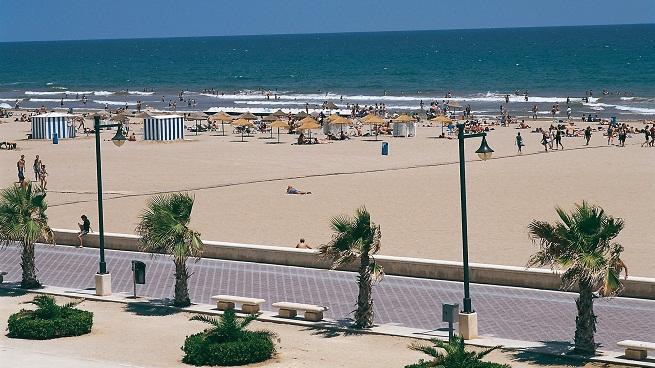 Playa de las arenas en valencia for Spiaggia malvarrosa valencia