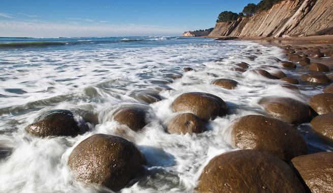 Bowling Ball Beach, una extraña playa en California