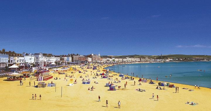 Weymouth Beach Reino Unido