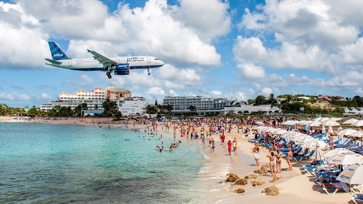 playa-St-Marteen-avion
