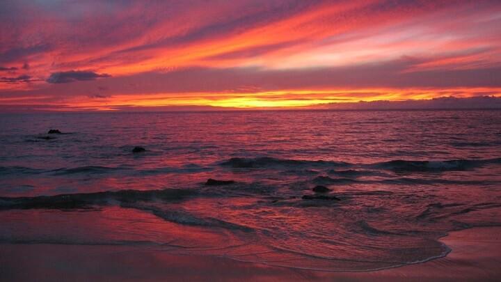 Hapuna-Beach-puesta-de-sol